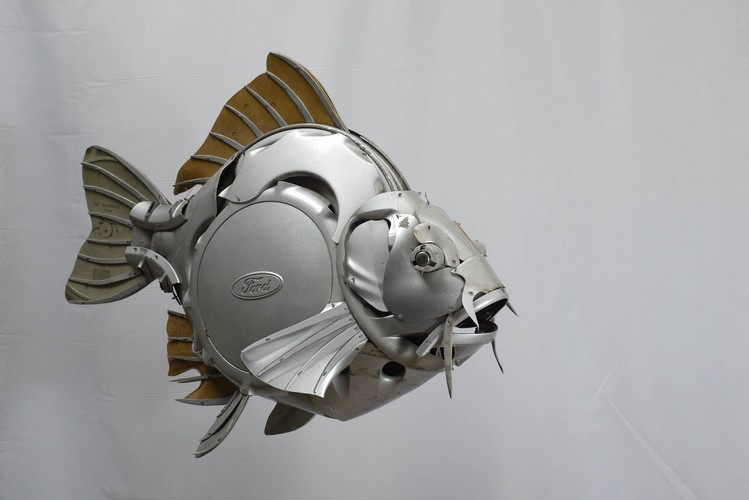 Fish Made With Scrap Metal