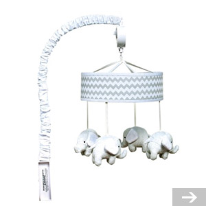 elephant baby crib toy