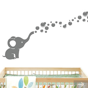 elephant baby wall decal