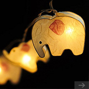elephant string lights