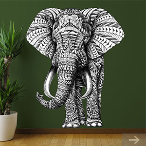 elephant wall decal 2