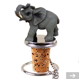elephant wine stopper