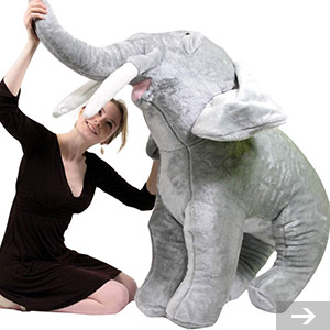 huge elephant stuffed toy